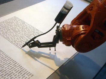 Robot scribe.