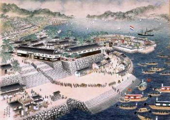 Nagasaki port 19th century